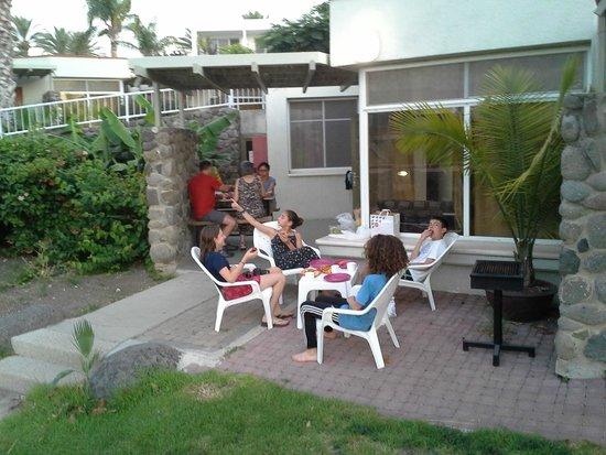 Maagan Kibbutz Holiday Village : Room patio