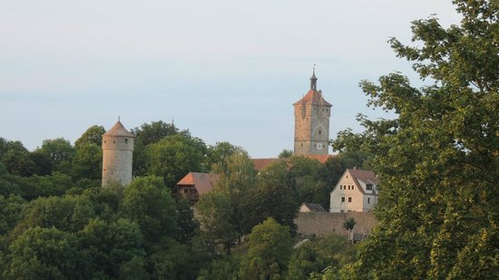 Rothenburg Town Hall (Rathaus): View of Rothenburg