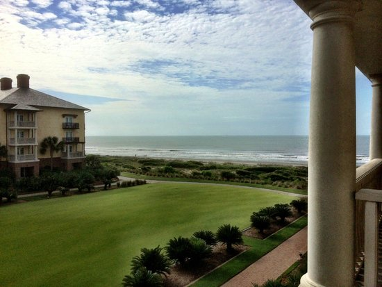 The Sanctuary Hotel at Kiawah Island Golf Resort: quiet evening on our room's balcony