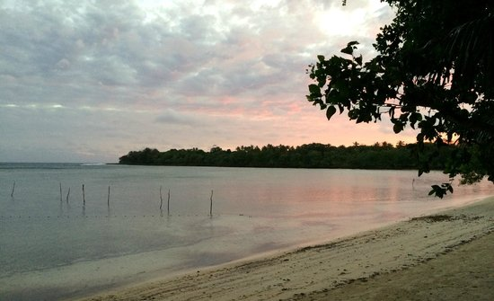 Vale Vale Beachfront Villas : The beach at Vale Vale...you can swim to the coral!