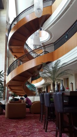 JW Marriott Hotel Medan: Hotel's beautiful stairs to second and third floor (optinonal) but you also use elevator