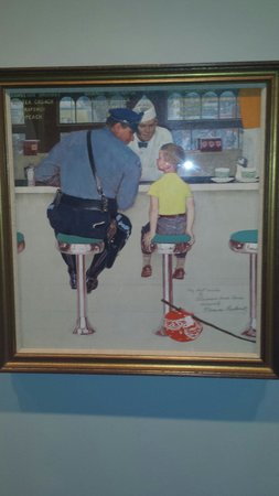 Norman Rockwell Museum: The runaway and the police officer