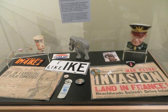 Eisenhower Birthplace State Historical Park: Memorabilia in the museum