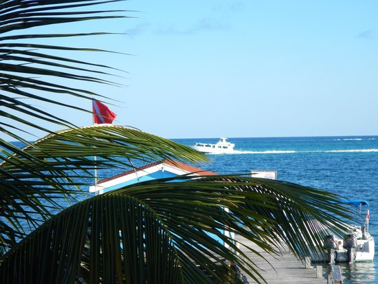 Exotic Caye Beach Resort: view from resturaunt onsite