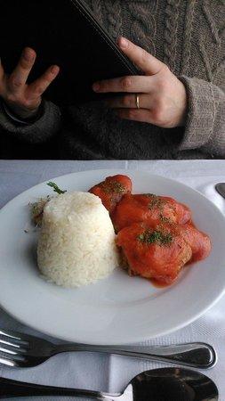 Restaurant Casavaldes: Pimientos rellenos de jaiba