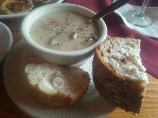 One Mile West: Mushroom barley soup