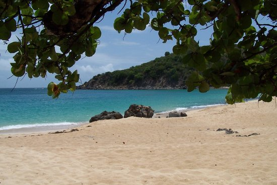 Happy Bay Beach: The view from the shade