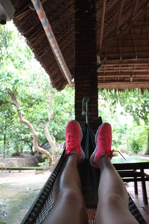 Ho Chi Minh City Urban Adventures: relaxing in a hammock after lunch during the mekong tour