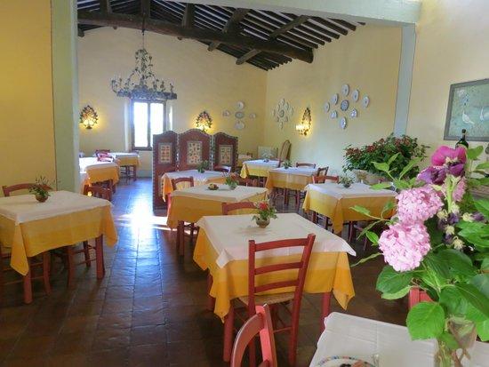 Villa Le Barone: Indoor restaurant