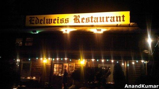 Edelweiss Restaurant: Restaurant Sign