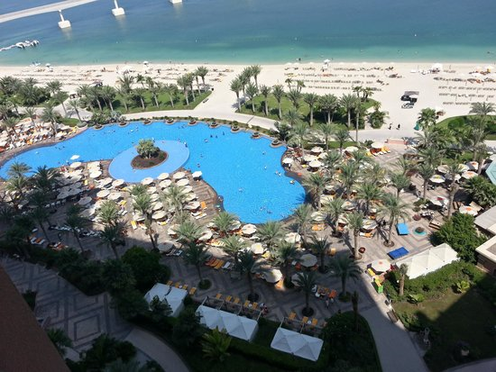 Atlantis, The Palm : Pool from 12th Floor West Tower