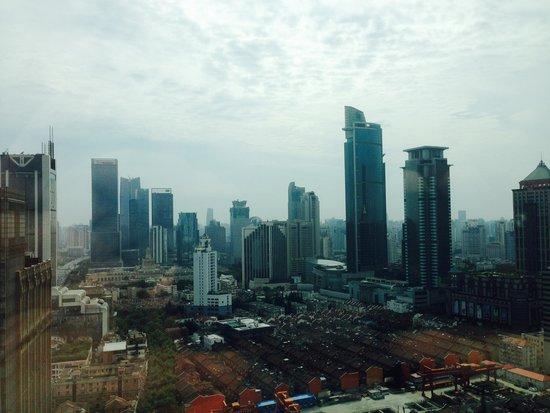 Four Seasons Hotel Shanghai: Aus dem Zimmer