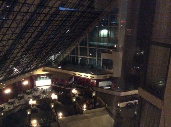 Doubletree Dallas Near the Galleria: View from our room, over hotel bar area.
