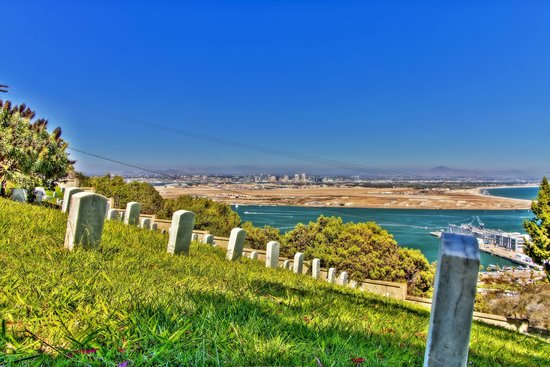 Fort Rosecrans Cemetery: View of Downtown