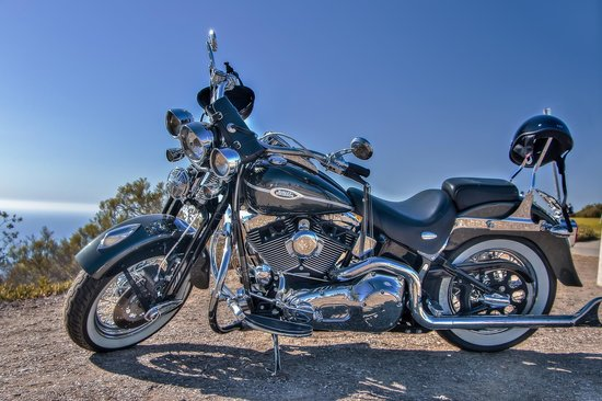Mt. Soledad National Veterans Memorial : A Nice Harley At Mt. Soledad