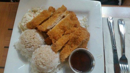 Da Kitchen Kahului: Chicken Katsu Plate