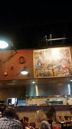 Pioneer Crossing - Chuckwagon Cafe: Restaurant wall