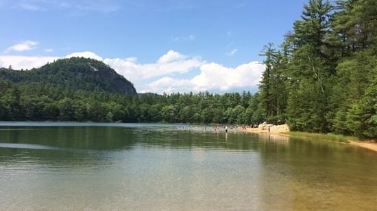 Echo Lake State Park: sø og strand
