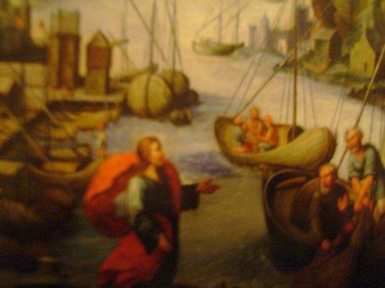 Centro histórico de Lima: óleo Signo Piscis : La Pesca Milagrosa 1681 BCP Jr. Lampa 499, Lima, Ingreso Gratis