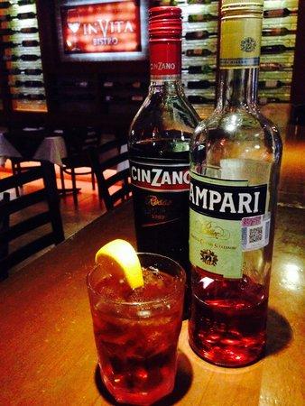 Invita Bistro: Famous Negroni traditional Italian cocktail!