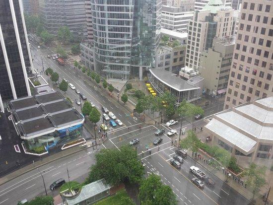 Centre-ville de Vancouver : vista do meu hotel!
