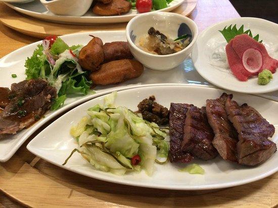 Rikyu Higashi 7bancho: food