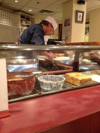Oka Sushi: Mr. Oka hard at work