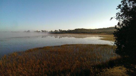 Jabiru Safari Lodge: Morning fog