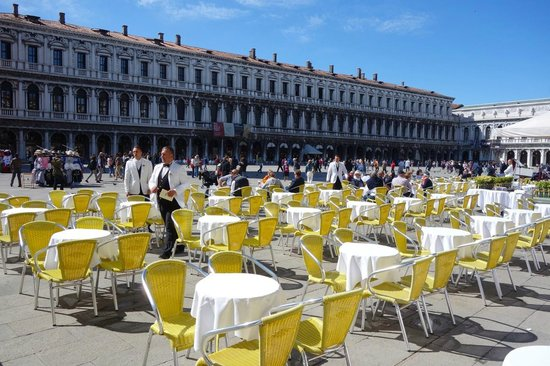 Piazza San Marco (Place St Marc) : Have a coffee or lunch in the Square.
