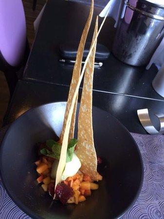 Auberge du Pressoir : salade de fruit qui a le vent en poupe!