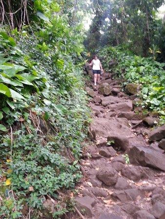 Kalalau Trail: Rocky uphill path