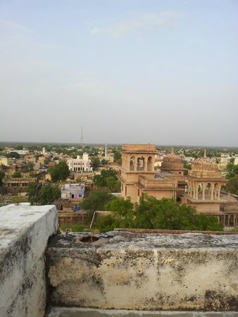 Castle Mandawa Hotel : view from the terrace