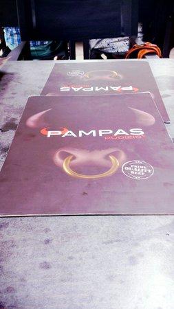 Pampas Rodizio: Menu