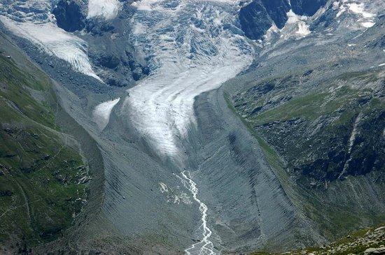Val Roseg: Tschierva-Gletscher von der Fuorcla Surlej aus