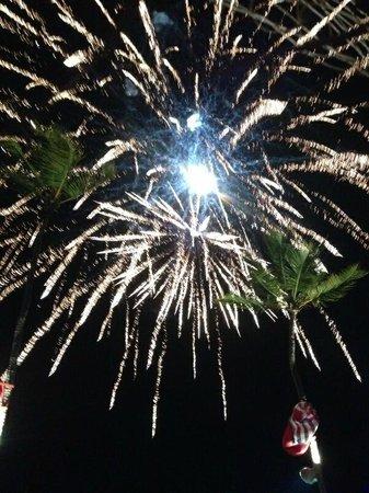 Dreams Palm Beach Punta Cana: Fireworks show on the beach