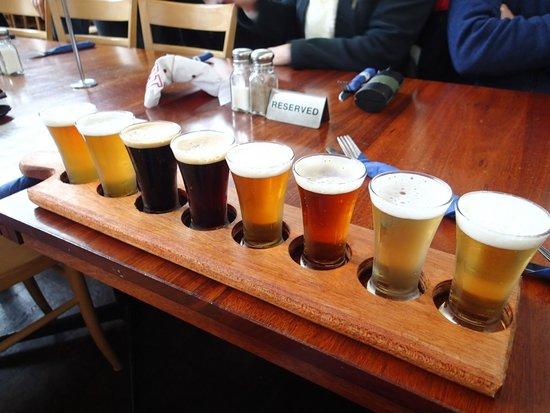 Lobethal Bierhaus: The Beer Paddle sampler
