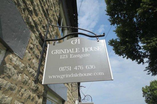 Grindale House: Grindale sign