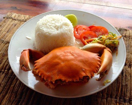 Mbuyuni Beach Village: Coconut crab lunch