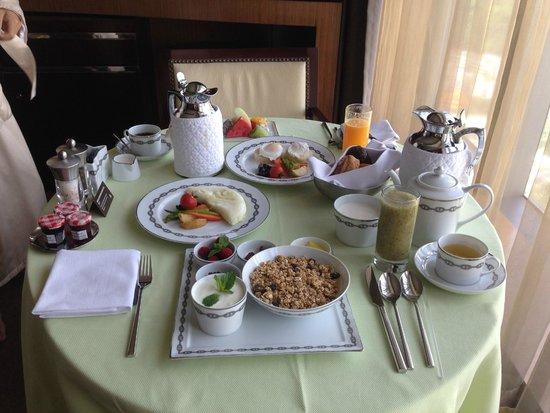 Altira Hotel: завтрак в номер