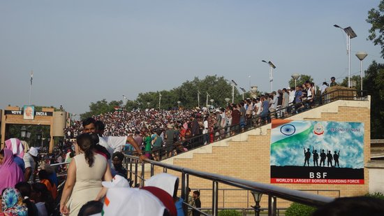 Wagah Border: And more crowd...