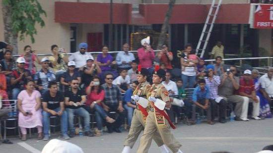 Wagah Border: The parade bgins