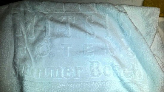 Mitsis Summer Palace Beach Hotel : Sådan ser håndklæderne ud