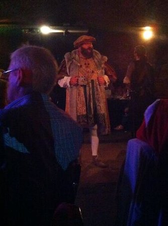 Medieval Banquet: Henry VIII hosts the proceedings ..,