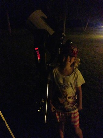 Stars Above Hawaii: My six year old next to the large telescope