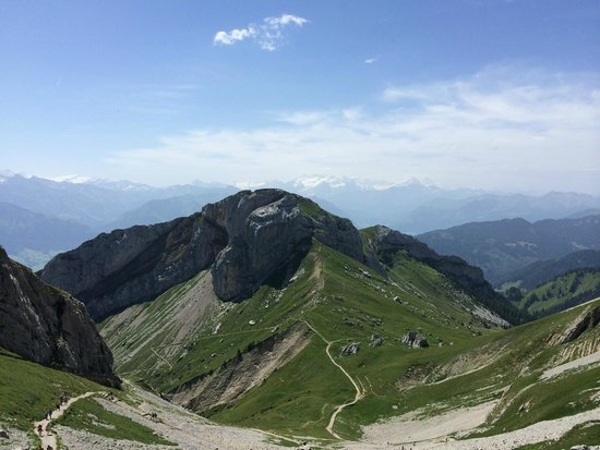 Pilatus: A view as we reached the top.