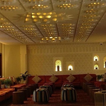 K108 Hotel: Arabic Architecture in the lobby