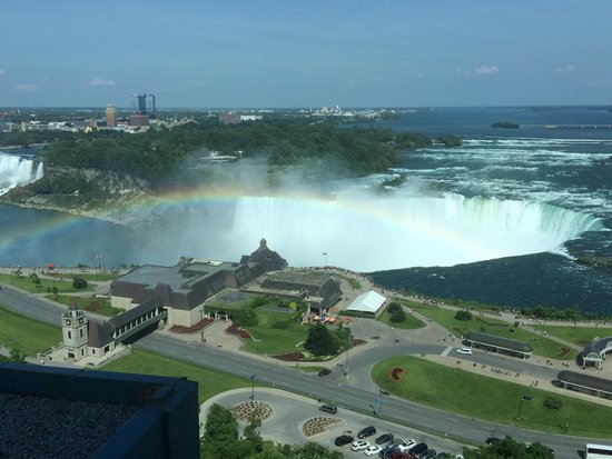 Niagara Falls Marriott Fallsview Hotel & Spa: Taken from our room.