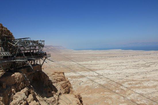 Masada National Park: funivia, stazione d'arrivo