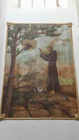 Exconvento de Calpan: Pintura al fresco, del altar del Convento franciscano de Calpan, siglo XVI, Patrimonio mundial,
