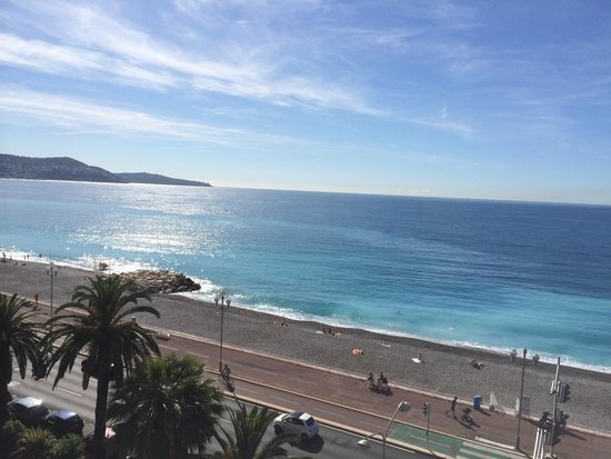Adagio Nice Promenade Des Anglais: View from 6th floor sea view apartment.